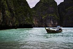 Island (EmilJoh) Tags: trip travel blue sea water canon thailand boat couple asia warm bluewater cliffs iland shore 7d shallow boattrip bushes krabi shallowwater canon7d