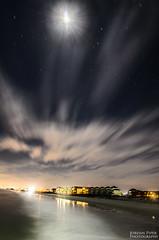 Topsail Beach Long Exposure (steadfastlightphotography) Tags: ocean longexposure nightphotography sky moon beach clouds stars nikon topsail lightroom topsailbeach d7000 lightroom4