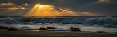 Sunset on Beg Lguer (Phil 22) Tags: sunset sun france beach 22 soleil phil pentax vague plage beg k5 algues couch lannion servel loqumeau lguer