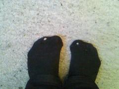 Not strange I'm happy (lasseman92) Tags: socks nice sock toe hole holes worn torn trasig holey nya nästan hål tå strumpa strumphål