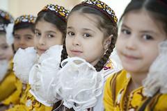 General Photos: Turkmenistan (Asian Development Bank) Tags: turkmenistan tkm ashgabat centralasia girls children kids pupils students scholars classmates schoolmates class classroom traditionalcostume primaryschool elementaryschool school primaryeducation education
