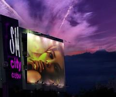 ♪♫.•*¨¨*•.I can't tell you why!.•*¨¨*•.¸♪♫ (antonè) Tags: tramonto cielo poster modella donna antonè sardegna canzone amore noche luz elaborazione