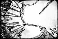 Life is a rollercoaster (TheOtherPerspective78) Tags: vienna wien canon fairground spin vertigo wideangle fisheye wifi photowalk rollercoaster recreation 8mm walimex boomerang prater reeling achterbahn weitwinkel vergngungspark rummelplatz freizeitpark fischauge samyang hochschaubahn theotherperspective78