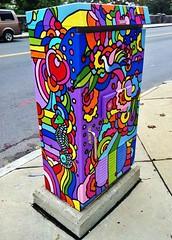 Untitled (ArtFan70) Tags: howiegreen green allstonbrighton allston brighton boston massachusetts ma unitedstates usa america art seahorse bird paintedutilitybox utilitybox box paintbox dove newengland