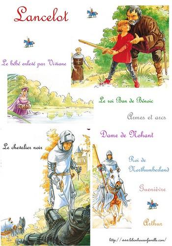 fiche Lancelot enlevé par Viviane et triomphant le chevalier noir