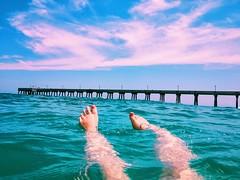(Meg4nnn) Tags: outdoors floating beach journey beautiful vsco iphonephoto adventure explore july summer toes feet water swimming ocean northcarolina roadtrip vacation
