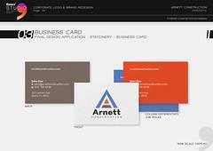 Arnett Business Card Design (Studio Comma Agency) Tags: studio comma studiocomma graphic design art agency affordable fast online service gig fiverr business name card branding marketing identity greeting construction arnett company