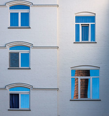 Blue windows (jefvandenhoute) Tags: nikond800 nikon photoshopcs6 light gent belgium belgi belgique lines shapes blue