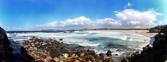 Curl Curl beach (LSydney) Tags: panorama beach waves rocks clouds curlcurl sky