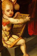 Nasty Baby (Zabowski) Tags: espaa spain seville sevilla museodebellasartes art painting cherub museumoffinearts scarybaby baby