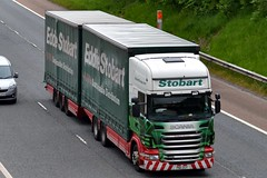 Stobart M460 PN11 ZGT Kathleen Veronica M6 Penrith 1/6/16 (CraigPatrick24) Tags: eddiestobart stobartgroup stobart road vehicle transport truck lorry trailer delivery logistics cab scania scaniar440 m6 penrith kathleenveronica m460 stobartcurtainsider curtainsider drawbar roadtrain pn11zgt