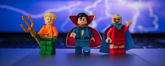 [Lego DC] Classic Heroes II (Jonathan Wong Photography) Tags: lego dc superheroes custom figures minifigures comics purist figbarf etrigan the demon aquaman king of atlantis superfriends retro classic captain marvel jr freedy freeman