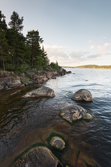 Coast of Vålberg (- David Olsson -) Tags: värmland sweden vålberg vänern water lake afternoon summer sommar rocks stones trees seascape lakescape landscape nature outdoor leefilters 06hard gnd grad nikon d800 1635 1635mm 1635vr vr fx davidolsson 2016 june juni