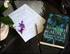 Reading St Aubyn (swenwllter) Tags: edwardstaubyn staubyn book novel novels bookcover pencil notes recension review badnews nevermind somehope