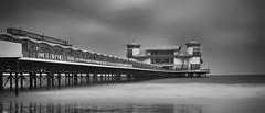 After the rain.... (Collingwood505) Tags: westonsupermare pier grandpier monochrome blackwhite blackandwhite somerset water sea silky clouds storm 10stopfilter nikon d750 windswept rain