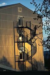 Sombras!!! (puri_) Tags: islandia casa escadas sombra amarelo soldameianoitearvore ceu azul picmonkey egilsstadircidade