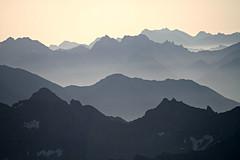 Sopra le vette (claudiophoto) Tags: montblanc alps alpi valdaosta courmayer helbronner massifdumontblanc foschia puntahelbronner montagne mountains fog landscape montebianco rifugiotorino rifugiohelbronner