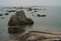 Morito beach, Kanagawa, Japan (Konosaka Noboru  ) Tags: japan kanagawa beach seascape rainy hayama rock sony a7 zeiss biotar 58mm m42 sea sand landscape shore water ocean outdoor seaside
