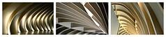 France 2016 - Bordeaux - Cit du Vin (philippebeenne) Tags: france bordeaux citduvin citeduvincom bois triptyque collage mosaque mosaic courbes architectureinterieure lignes