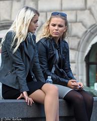 People in Copenhagen 030 - Girl talk (Row 17) Tags: denmark copenhagen city urban people women woman candid portrait streetlife streetscene streetfashion