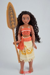 Disney Moana Classic Doll - 11'' - Disney Store Purchase - Deboxed - Free Standing with Oar - Full Front View #2 (drj1828) Tags: us moana classic doll 2016 11 disneystore purchase deboxed freestanding