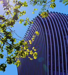 Modern office building (chrisk8800) Tags: modern office building lines curves texture leaves structure geometric geometry barcelona