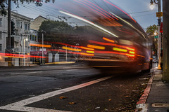 missed the bus from marin (pbo31) Tags: sanfrancisco california nikon d810 color september 2016 summer boury pbo31 bayarea night dark lightstream motion roadway bus muni vannessavenue russianhill unionstreet traffic motionblur
