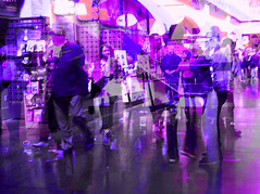 """Shopping at the Pier (""""Cisco Kid"""") Tags: photoshop purple violet people abstract"""