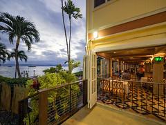 Pacific'o @ Dusk (Jon Wojan) Tags: pacifico maui lanhaina resturant alfresco pacific sunset sundown dusk architecture telephoto olympus omd em1 omdem1 tropic tropics tropical vacation scenic