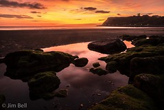 Pre dawn on Scarborough North Bay (itscosmicjim) Tags: scarborough scarboroughcastle jimbell pentaxart northyorkshire dawn beach northbay rockpool sand sea water sunrise pentaxk1