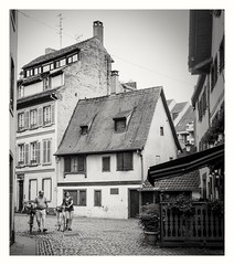 French village (MaViDar) Tags: frenchvillage france colmar olympuspen epl5 travel bw monochrome street noiretblanc