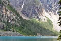 (its mb) Tags: outdoor waterfall water landscape mountainside hill mountain lake moraine banff national park alberta canada kayak