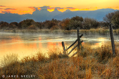 Teton Sunrise at Cache Bridge (James Neeley) Tags: sunrise landscape idaho grandtetons tetons hdr tetonvalley 3xp jamesneeley cachebridge