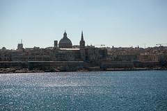 Valletta Skyline (cliff.hellis) Tags: ocean sea church water malta explore creativecommons valletta yabbadabbadoo carmellitechurch