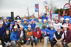 NFL Buffalo Bills players at a KaBOOM! build in Lackawanna, NY (kaboomplay) Tags: mobile buffalobills nfl kaboom celebrities