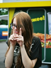 laugh (D O R O Z H K I N A) Tags: park summer portrait green liza nature girl beautiful beauty smile june fun glasses nikon friend funny warm slim russia moscow lol laugh teenager lovely