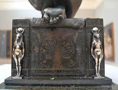 Edward Onslow Ford (1852-1901) Applause (1893), rear of pedestal, Tate Britain, Dec 2012 (ketrin1407) Tags: sculpture statue goddess victorian egyptian statuette ancientegypt pedestal puzzlepicture hiddenimage edwardonslowford onslowford