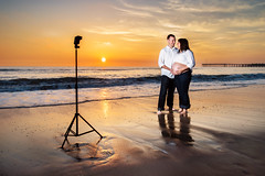How to take a portrait on the beach at sunset using off-camera fill-flash (Extra Medium) Tags: sunset beach clouds pier behindthescenes ventura bts sb800 offcameraflash strobist wirelesstrigger nikond4 pt04cn