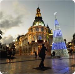 Feliz Navidad (Legi.) Tags: plaza navidad nikon 1855mm 1855 cartagena ayuntamiento palacio consistorial d5100