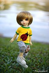 Mercus, The little boy! (PruchanunR.) Tags: cute rabbit heart bubble bjd volks whiterabbit yosd dolldoll dollndoll icloth dollanddoll heartdoll