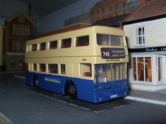 WMT Fleetline 6610 NOC 610R (Bandsman1) Tags: bus model matchbox daimler fleetline westmidlandstravel diecast dms repaint code3 oogauge 176scale counbourne