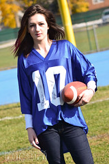 """Jersey Girl"" Brie (jasonshrek) Tags: november football post jersey giants footballfield bleachers brie kenilworth 2012 fieldgoal footballjersey jerseygirls jerseygirl nygiants briebrock"