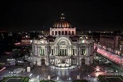 Bellas Artes (Ismael G.G.) Tags: longexposure nightphotography beautiful night canon mexico df bellasartes angle dramatic symmetric hdr hdri centrohistorico canon60d longexposurehdri ismaelgg