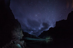 Canyon Stars (RSBurnsIM) Tags: ranch park bridge light camp arizona night clouds canon river painting stars colorado sigma grand canyon hike fisheye explore national phantom