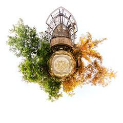 Planet TFB (eggysayoga) Tags: bali panorama white indonesia nikon head tripod panoramic fisheye foliage planet stereographic tfb littleplanet nodalninja d7000 samyang8mm tamanfestivalbali