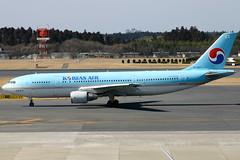 Korean Air A300-600 taxis at Narita (Bob the Airplane Nut) Tags: kal a300