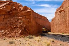 In the cut... 20120506_9069 (listorama) Tags: railroad train utah desert cut unionpacific moab 1000 lightroom bootleggercanyon canecreekbranch rstaot ut2012apr up5657
