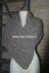 Scarf/Poncho (mariamarutska) Tags: winter wool scarf clothing knitting warm clothes knitted poncho owndesign