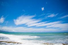 Baby Beach Blue Sky (anks79) Tags: ocean travel blue sea sky usa holiday beach nature island hawaii sand nikon couple maui september pacificocean 2012 d90 babybeach