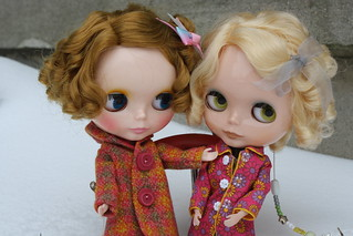 Meet Peaches!!! I used Saffy's hair as a guide, and fixed my frizzy friend.